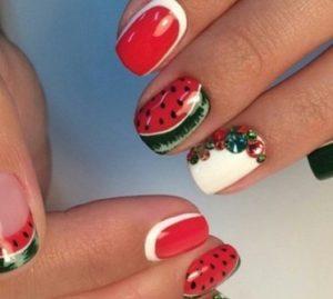 маникюр 2016 модные тенденции фото весна лето красный